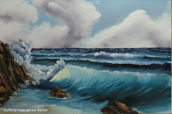 You can feel the power of this wave as it rolls up onto the beach and crashes into the rocks.