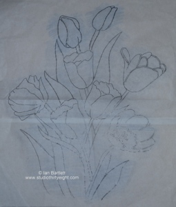 Just Tulips composition sketch