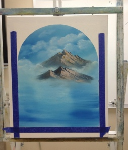 1-Mountain River progress 1